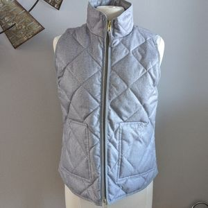 NWT J.Crew Factory Quilted Gray Vest, S